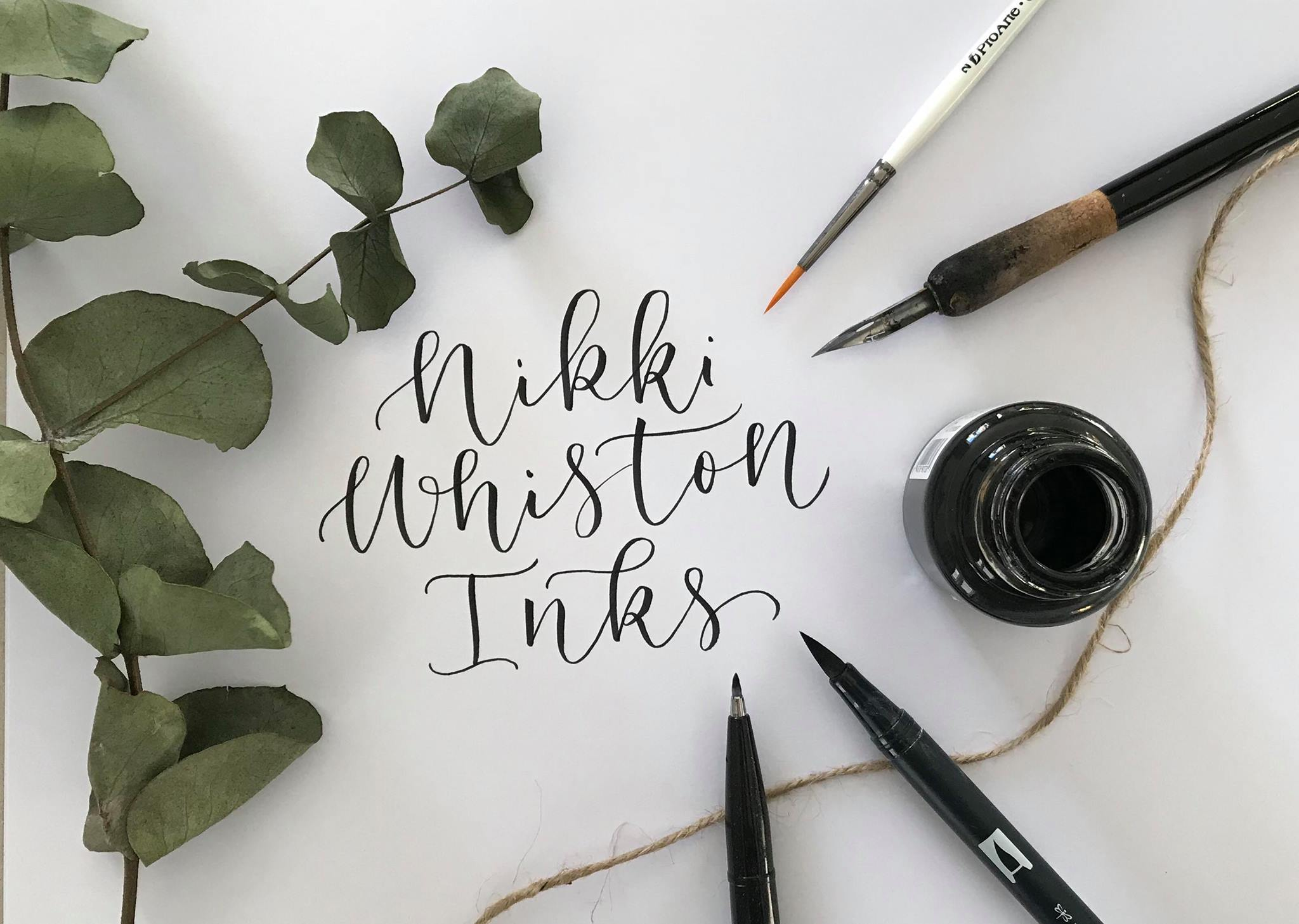 September 3rd: Calligraphy Workshop with Nikki Whiston Inks